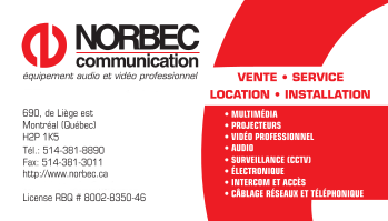 Norbec Business Card